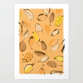 Arbutus leaves Art Print