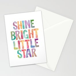 Shine Bright Little Star Stationery Cards