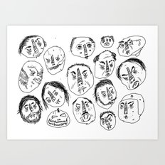Horrible Faces Art Print