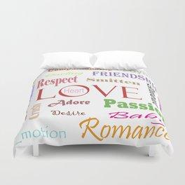 Love Synonyms Duvet Cover