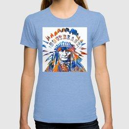 Southeast Native American Logo Design by Sharon Cummings T-shirt