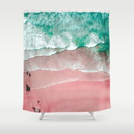 Beach in Portugal, Algarve, Lagos, Beach Print, Pink Beach Print, Bondi Beach, Pink Print, Ocean Shower Curtain