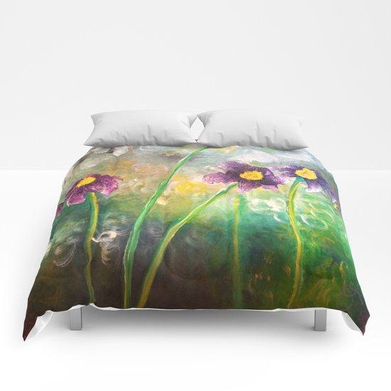 Purple Flower Comforters