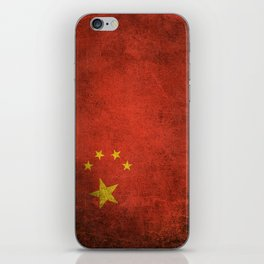 Old and Worn Distressed Vintage Flag of China iPhone Skin