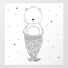 BearMaid illustration Art Print
