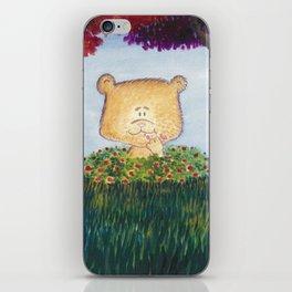 Bear snacking iPhone Skin