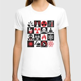 Hazard Danger Icons T-shirt