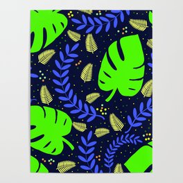 Tropical Leaves & Ferns Poster