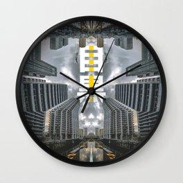 Symmetrical Mirror River of Meguro, Tokyo - Japan Wall Clock