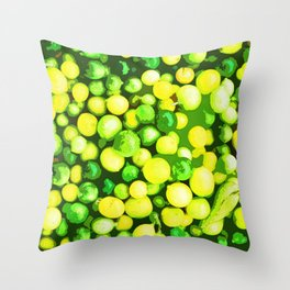 Lots of Green and Yellow Sour Fruits Throw Pillow
