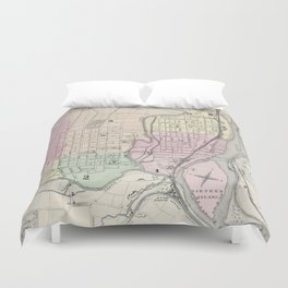 Vintage Map of Allentown Pennsylvania (1872) Duvet Cover