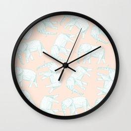 African Animals - Elephant Peach Wall Clock