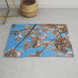 Cherry Blossoms and Blue Sky at Kew Gardens 2019 Rug