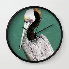 Brown Pelican Upstanding Wall Clock