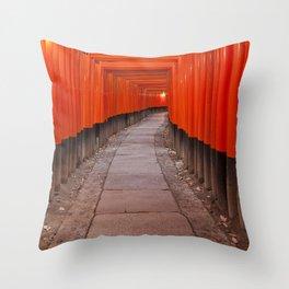 Fushimi Inari Shrine, Kyoto, Japan Throw Pillow