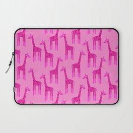 Giraffes-Pink Laptop Sleeve