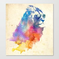 watercolor Canvas Prints featuring Sunny Leo   by Robert Farkas