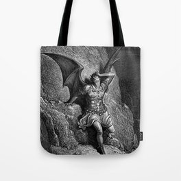 Gustave Dore - Paradise Lost Satan Profile Tote Bag