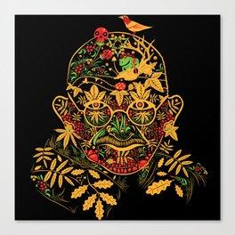 Gandhi Psychedelic Khokhloma Canvas Print