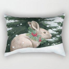 Winter Bunny Rectangular Pillow