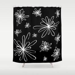 Energy Flowers Reverse Shower Curtain