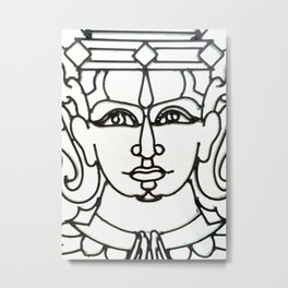 Wrought Iron Face Detail Royal Palace Phnom Penh Metal Print