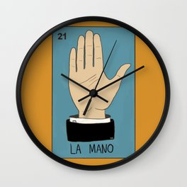La Mano Card (Traditional) Wall Clock