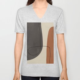 Modern Abstract Shapes #2 Unisex V-Neck