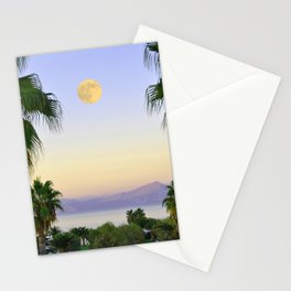 Palms on Full Moon Stationery Cards