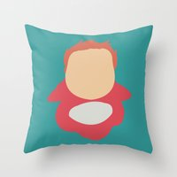 ponyo Throw Pillows featuring Ponyo by Polvo