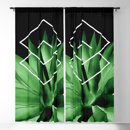 Agave geometrics III Blackout Curtain
