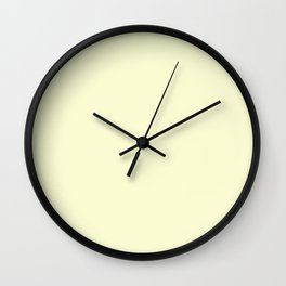 Light Goldenrod Wall Clock