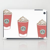 starbucks iPad Cases featuring Christmas Design Starbucks  by swiftstore