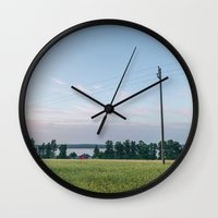 finland Wall Clocks featuring Finland by Johannes Valkama