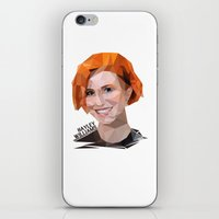 hayley williams iPhone & iPod Skins featuring Low Poly Design Hayley Williams by kertasputih