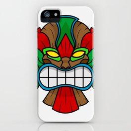 Tiki Mask - White Background iPhone Case