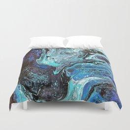 Blue Explosion Duvet Cover
