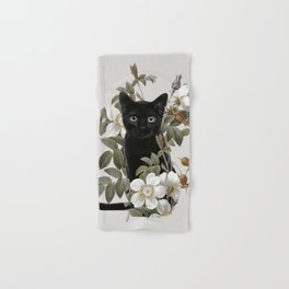 Cat With Flowers Hand & Bath Towel