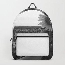 Her Sunflower (Black and White) Backpack