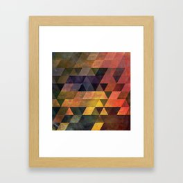 Graphic // isometric grid // chyynxxys Framed Art Print