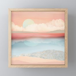 Mint Moon Beach Framed Mini Art Print