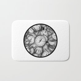 Time Inside of Time Bath Mat
