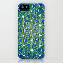 Flower of Life- Ocean Colours iPhone Case
