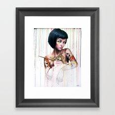 Off-color Clara Framed Art Print