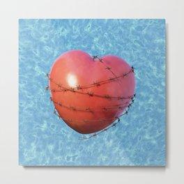 Barb Wire Heart - Coeur Barbelé Metal Print