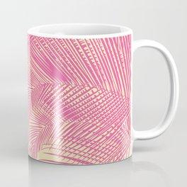 Palm Leaves, Pink Coffee Mug