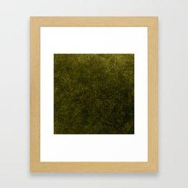 olive green velvet | texture Framed Art Print