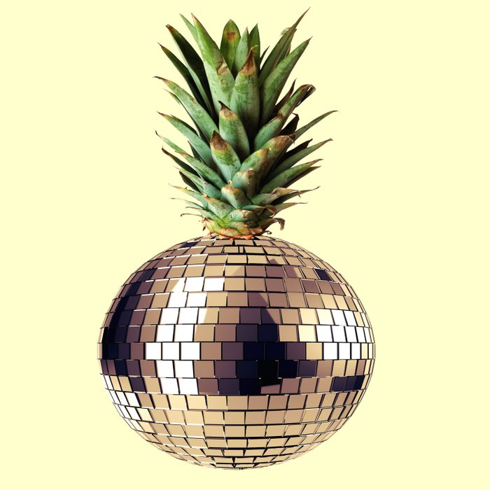 ananas party (pineapple) Duvet Cover
