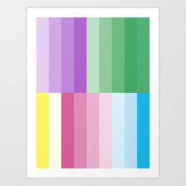 Harmony of Peaceful Pastel Colors Yoga Meditation Art Print