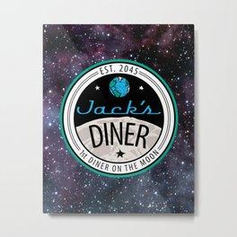 Jack's Diner on The Moon, Nebula Metal Print